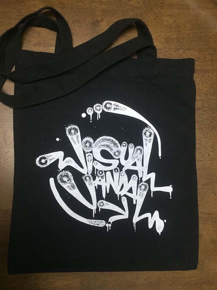 100 pcs/lot Custom Logo Design Silkscreen Printed Casul Canvas Black CottonTote Bag Company Shopping Bag Fashion Canvas Bag