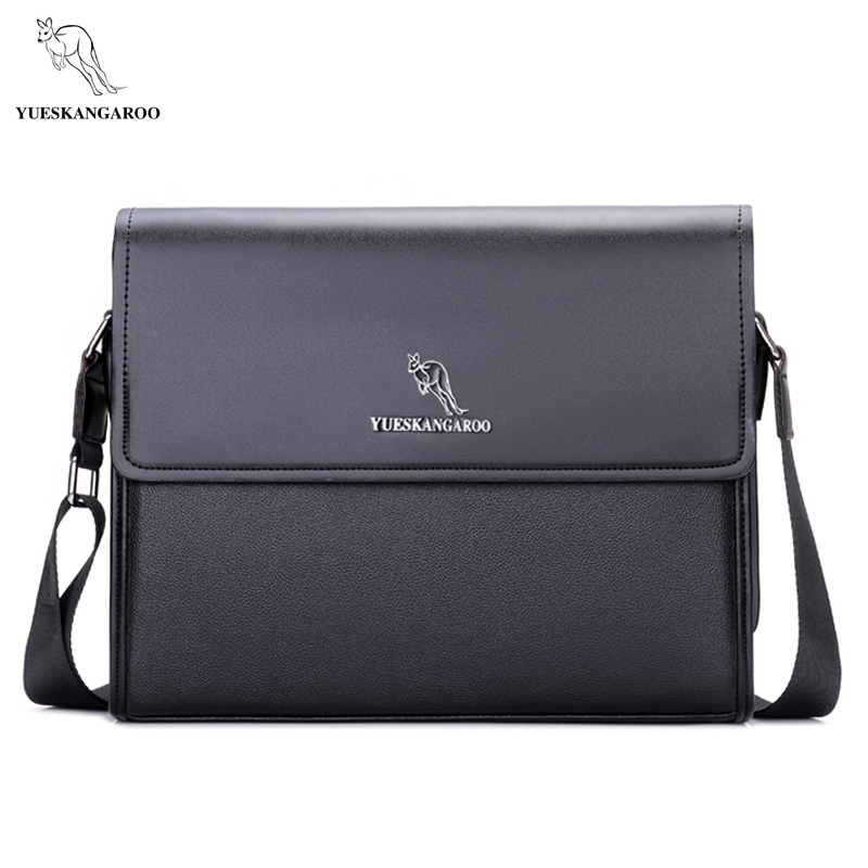 YUESKANGAROO Brand Men s Bags Briefcase casual men messenger bag A4 document leather male shoulder bag
