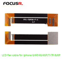 FOCUSR. lcd display test Extended flex cable for iphone6 6plus 6s 6splus 7 7plus 8 8plus  Digitizer tester flex ribbon Cable все цены