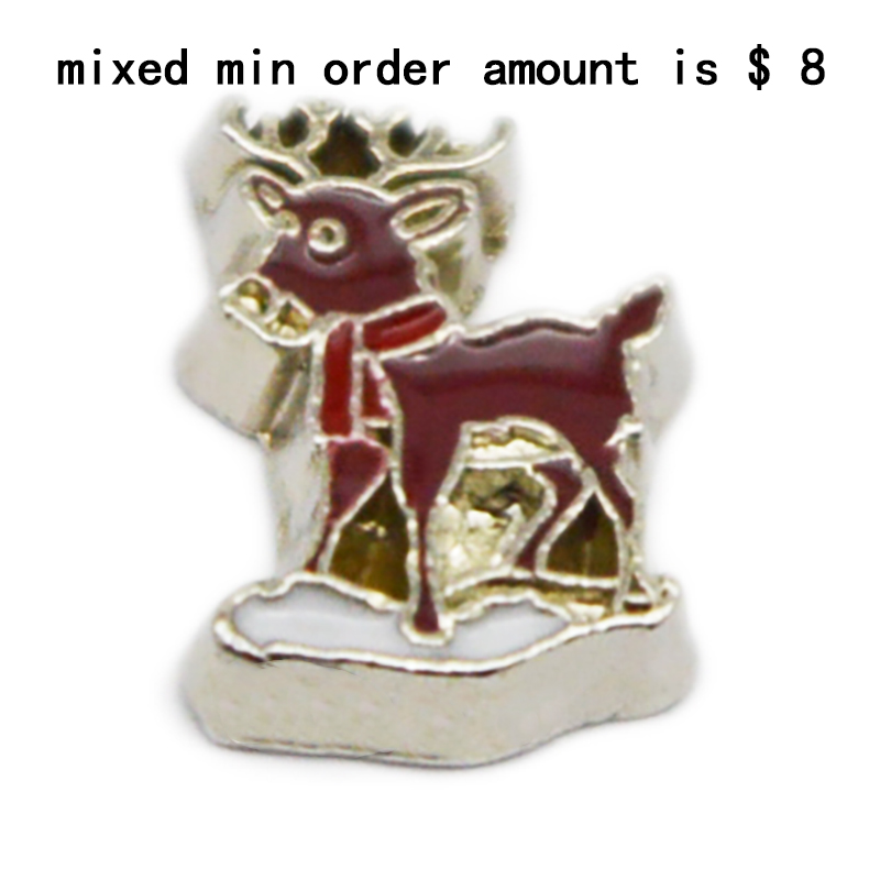Hot Sale  jewelry  10PCS  Deer  floating  charms   for glass lockets,Y-87