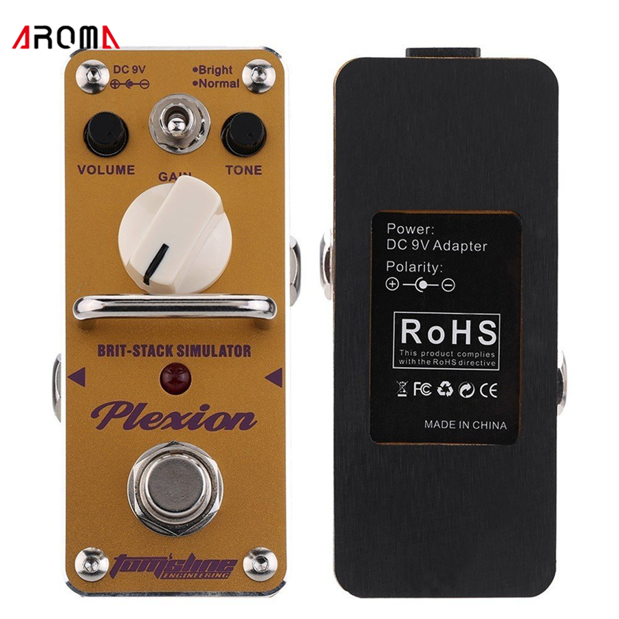 AROMA APN-3 Plexion Brit-stack Simulator Electric Guitar Effect Pedal Mini Single Effect with True Bypass Guitarra Effect Pedal aroma aos 3 octpus polyphonic octave electric guitar effect pedal mini single effect with true bypass