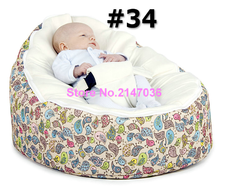 Surprising Us 29 5 Birds Pattern Baby Bean Bag Chair Wholesaler Beanbag Products Waterproof Base Harness Children Safe Chairs Free Shipping In Living Room Andrewgaddart Wooden Chair Designs For Living Room Andrewgaddartcom
