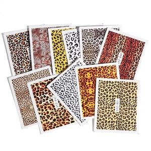 Image 5 - 19pcs Charming Leopard Slider Nail Designs Water Decals Nail Art Sticker Foils Wraps DIY Winter Sexy DIY Eye Manicure Set CH765