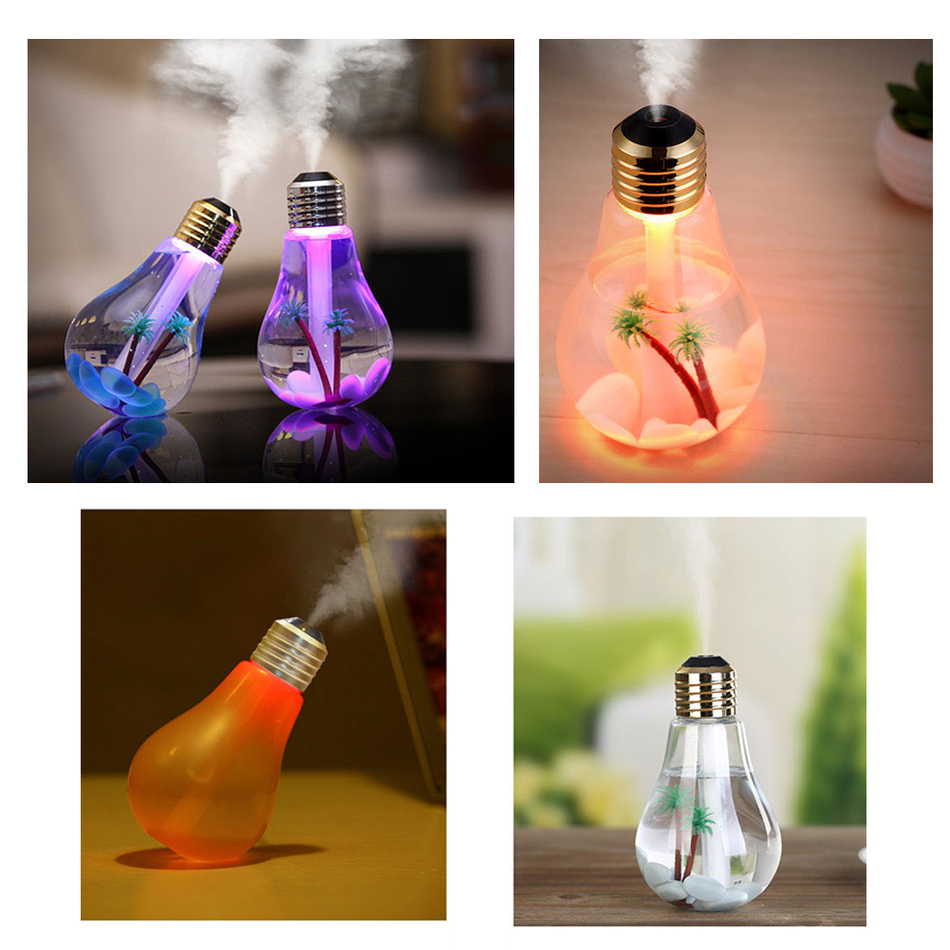 Newest 400ML USB DC 5V 7 Colors Night Light Car Air Ultrasonic Humidifier Oil Essential Aroma Diffuser Mist Maker Fogger