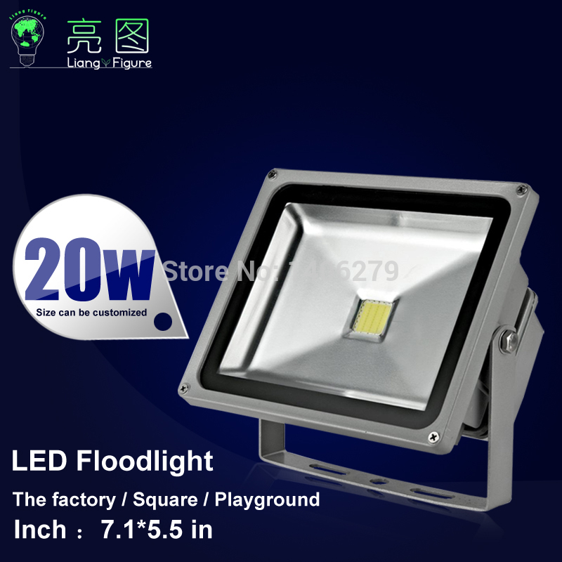 20W Waterproof LED Outdoor Floodlight AC110-240V White/Warm White IP65 LED Spotlight led projector lamp