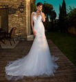 Mermaid Lace WeDding Dress 2017 Sweetheart Sleeveless Sexy Backless Beaded Vintage Vestido De Noiva