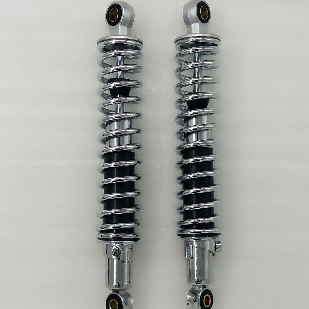 Chrome CG125 300mm 305mm 310mm 325mm 7mm spring Rear Shocks Absorbers for Honda CX500 Yamaha Suzuki