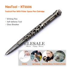 NexTool KT5506 тактическая ручка с ручкой Fisher Space # SPR4, черные чернила, Заправка для самообороны, стеклянный выключатель, инструмент для выживания, EDC