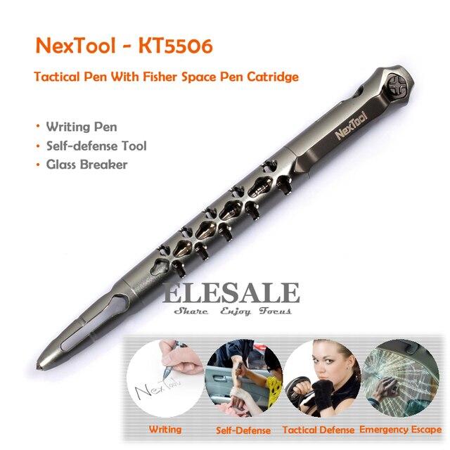 NexTool KT5506 Taktik Kalem Fisher Uzay Kalem # SPR4 Siyah Mürekkep Dolum Kendini Savunma Için cam kesici Survival EDC Aracı
