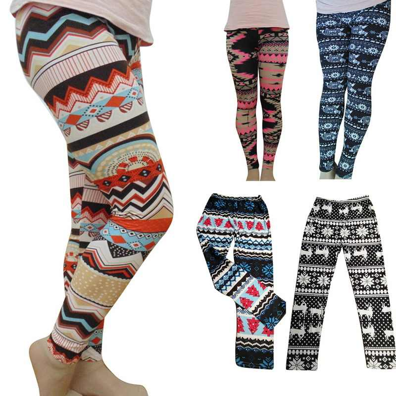 6b10984404da81 ... Puimentiua Women Leggings Snowflake Christmas Deer Print Leggings Girl Winter  Legging Bottoms Women Clothing Jeggings Large ...