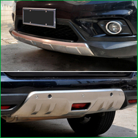 For Nissan X Trail XTrail Rogue 2014 2015 2016 Front Rear Body Bumper Skid protection Fender Guard Bumper Cover Trim Car styling
