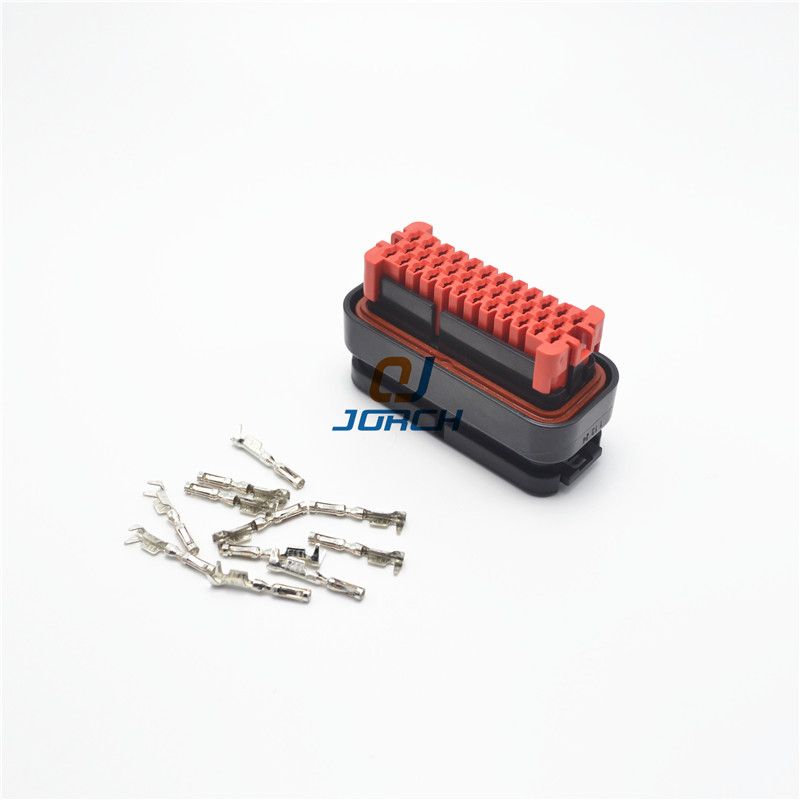 35 Pin Way TE TYCO AMP Wire Harness Electrical Auto Connector with pins 776164-1 1 set 18 pin 344106 1 female and male plastics copper 18 way tyco te amp auto waterproof connector