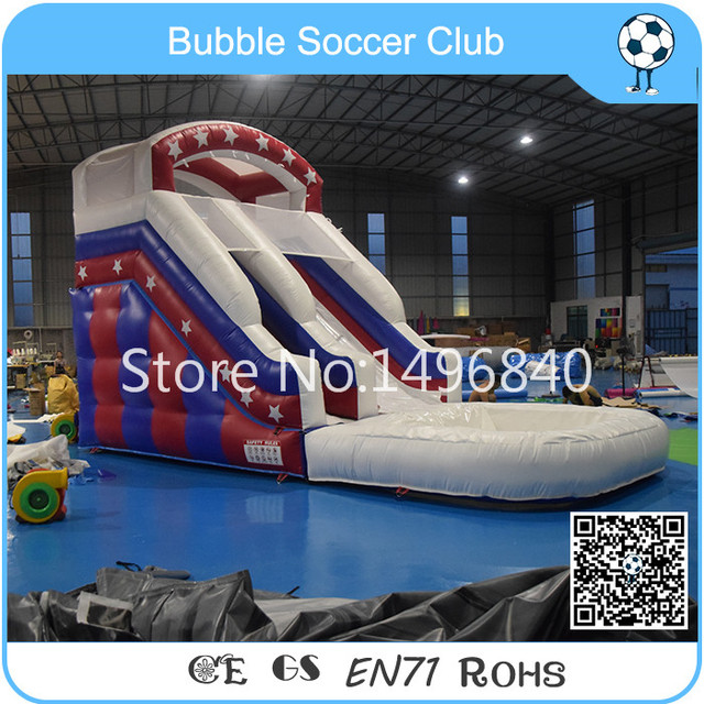 free shipping 7lx3wx5hm inflatable water slideinflatable pool slides for inground poolscommercial inflatable - Inflatable Pool Slide
