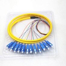 12 Strand 9/125 Fiber Optic Pigtail 1.5m SC/UPC Single Mode