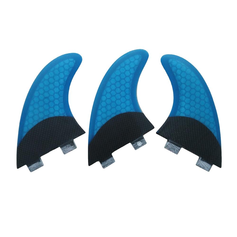 Finner FCS G5 / G7 Barbatanas de Surf Blue Fins Carbon Fiberglass Fins Azul