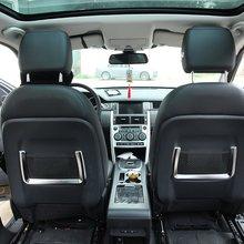 цена на 2pcs ABS Chrome Car Seat Rear Back Storage Net Bag Frame Trim For Land Rover Discovery Sport For Range Rover Sport 2014-2017