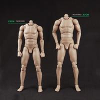 1/6 Standard Body Figure Nude Action Figure Muscle Man Narrow Shoulders Tan Skin Color B34001 Free Shipping