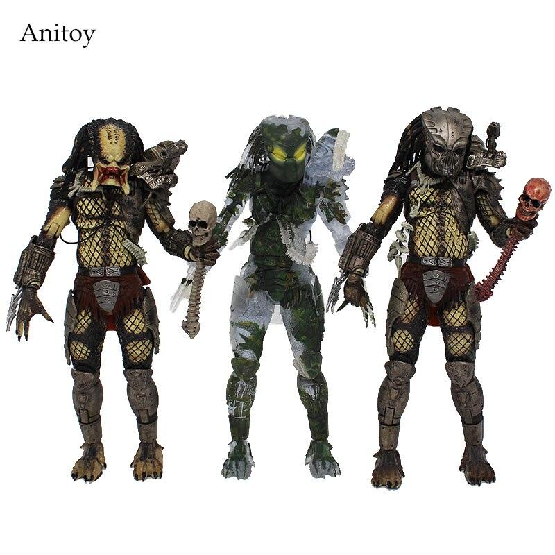 NECA  Predator 30th Anniversary Jungle Patrol Encounter Extraction Disguise Dutch Jungle Hunter Unmasked Demon Action Figure
