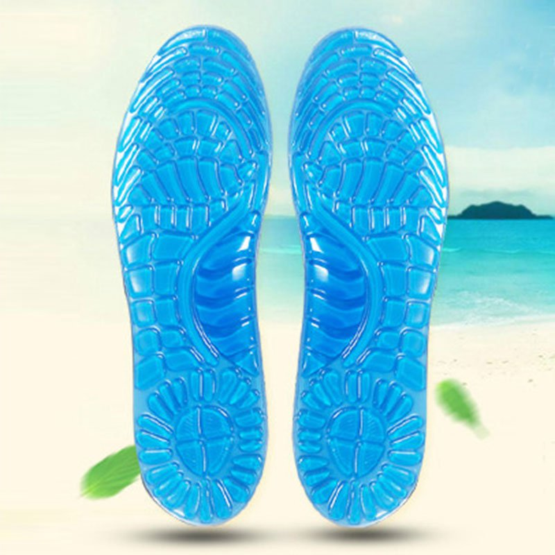 Gel Sports Insoles Women Men Shoes Pad Orthopedic Massage Damping Deodorant Military Soft Comfortable Silicone Insoles Palmilhas цена 2017