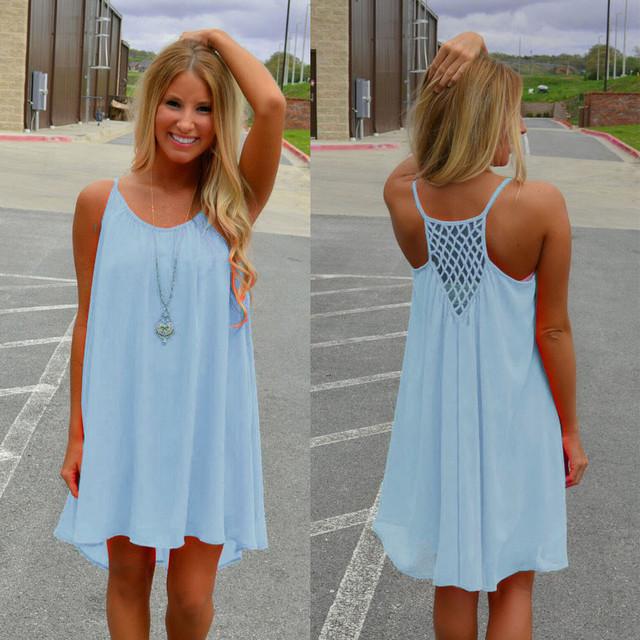 Women beach dress fluorescence female summer dress chiffon voile women dress 2018 summer style women clothing plus size S-3XL
