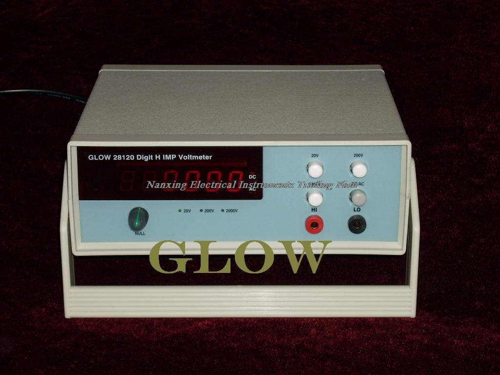 Fast arrival GLOW28120 Digit 4 1/2 AC and DC true RMS high impedance digital voltmeter 20V/200V /2000V