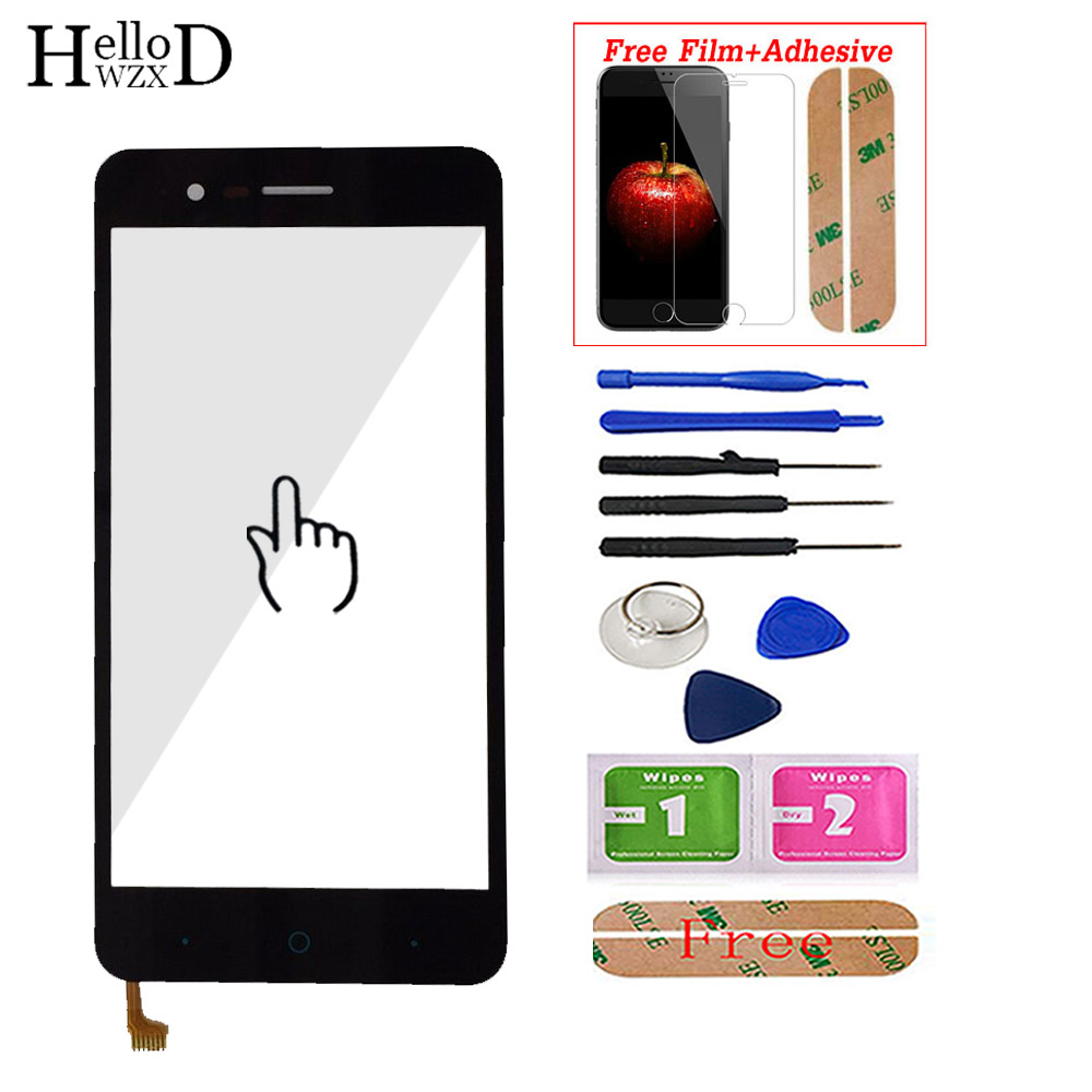 Touch Screen For ZTE Blade A510 BA510 BA510C Mobile Phone Front Touch Screen Glass Digitizer Panel Sensor + Screen Protector(China)