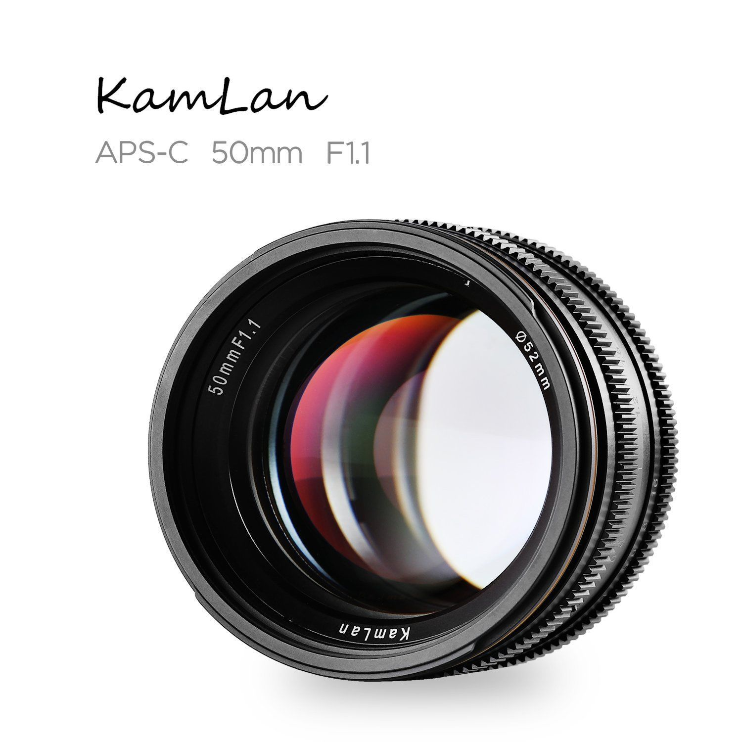 50mm F1.1 APS-C Large Aperture Manual Focus Lens for Canon Mirrorless Camera Lens for Sony Nex E Mount with Lens Hood image