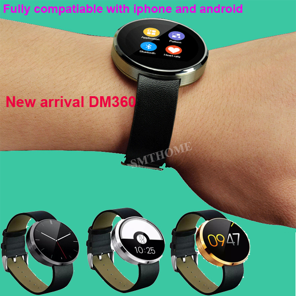 DM360 Bluetooth Watch Heart Rate Tracker Pedometer Sleep Monitor Health Watch Anti Lost Mic Speaker Wristwatch For IOS Android  бетоносмеситель herz dm 360