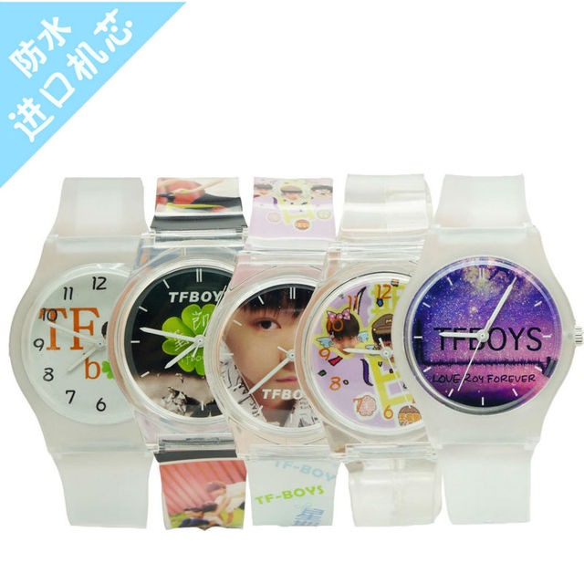 34MM fashion student fashion TFboys dial wristwatches for boys&girls promotion g