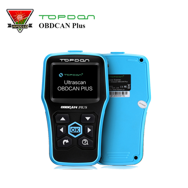 Topdon ultrascan obdcan زائد 2.0 obd 2 قانون القارئ سكانر obdii السيارات أداة تشخيصية بنفس المهام تفحص السيارات al519 dtc
