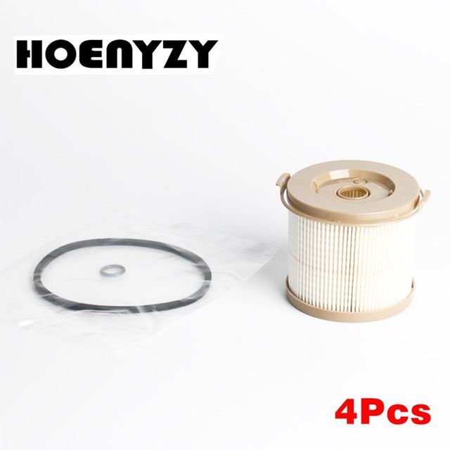 4Pcs 2010PM 2010TM Filter Element for 500FG Diesel Engine Fuel Filter Water Separator Replacement Truck Kit RACOR