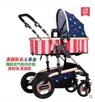 Высокое качество, поступления 2016 г. оригинальный двухстороннее нажмите Ultra Light Бесплатная дети Детские коляски 5 цветов Бесплатная подарки д