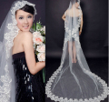Bride Veils White /ivory Applique Tulle 2.6 meters veu de noiva long wedding veils bridal accessories lace bridal veil