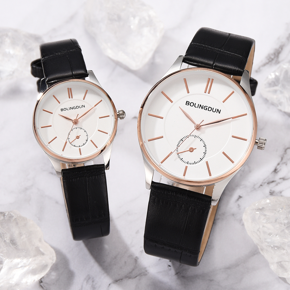 Ladies Watch Luxury Leather Casual Couple Watches Rose Gold Simple Quartz Wristwatches Business Watches Lover's Watches