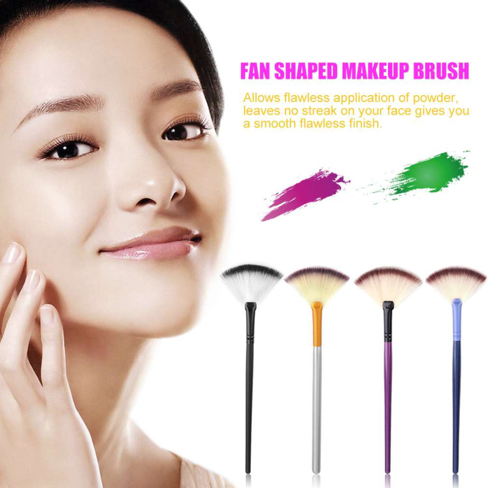Fashion Comfortable Fan Shaped Single Makeup Brush Facial Foundation Beauty Skin Care Tools Cosmetic Brushes Summer