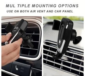 Image 3 - Soporte de teléfono para coche soporte de montaje en salida de aire de coche soporte de teléfono móvil No magnético soporte de teléfono móvil de gravedad Universal soporte de teléfono inteligente