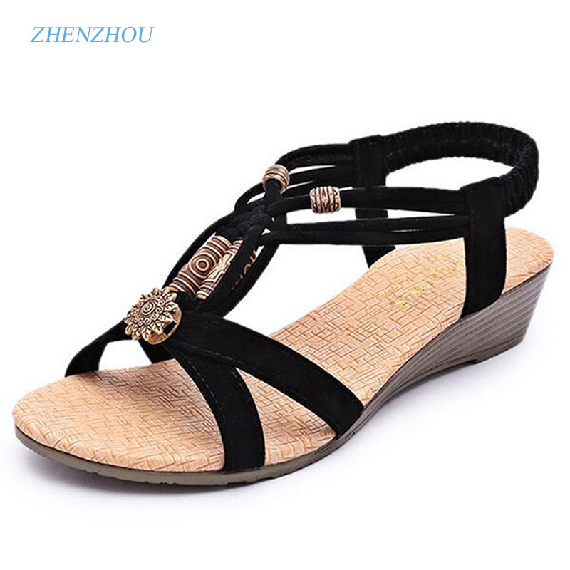 New Free shipping The New Year's new summer shoes for women's shoes are made in the beach shoe Bohemian flats 2016 spring and summer free shipping red new fashion design shoes african women print rt 3