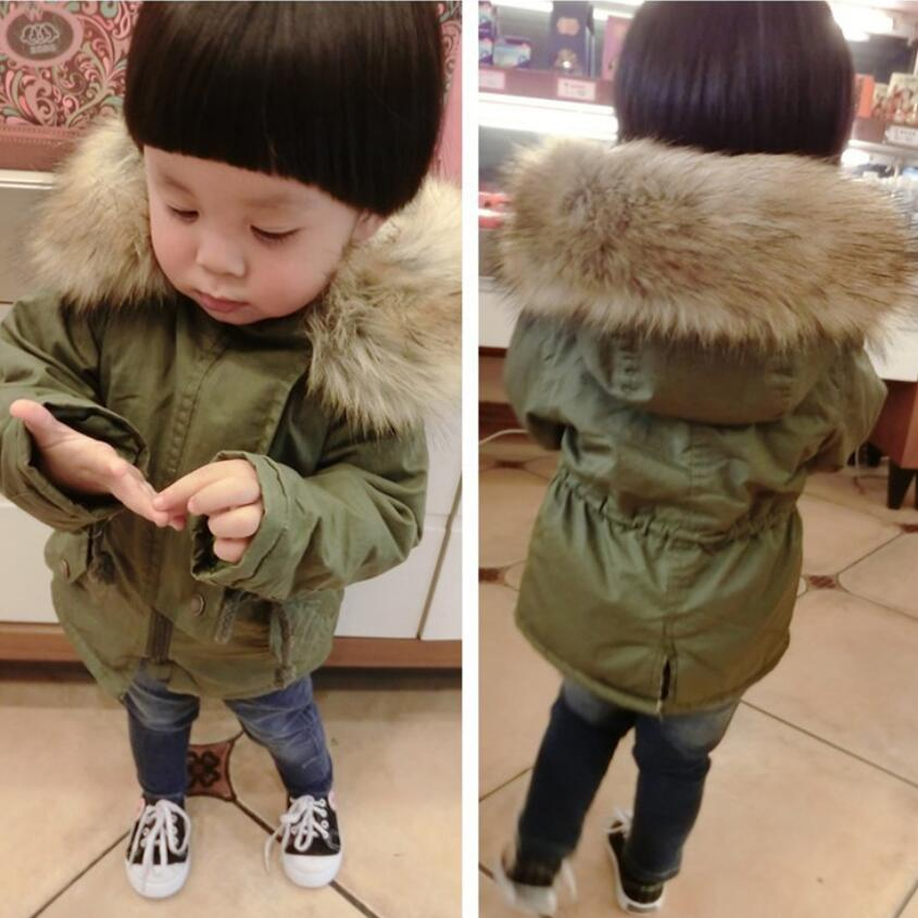 93fb2bc0e95 2018 Boys Winter Jacket Child Girls Down Coat Parka Fur Hooded Casual Camouflage  Cotton-padded Kids Warm Jacket Outwear JW3075