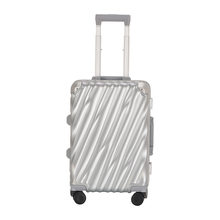 High Quality Aero Spinner Hardside Luggage 20 Inch Silver Dual TSA Locks Include Carry-On Luggage For Pleasant & Business Trip(China)