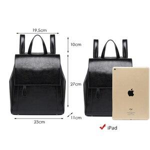 Image 4 - Женский дорожный рюкзак POMELOS, модный дизайнерский рюкзак из спилковой кожи, женский рюкзак, дамская сумка