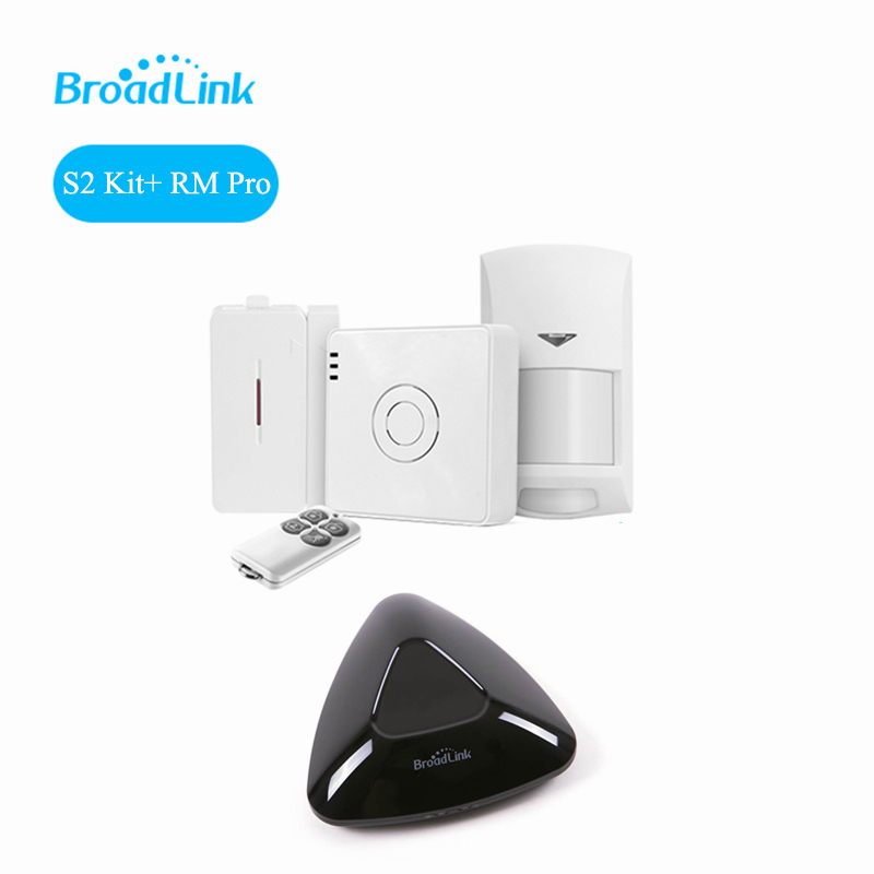 2018 Broadlink RM3 RM Pro+ S2-HUB Security Alarm System Kit Detector Motion Sensor Remote Control For Smart Home Automation push type vacuum sealed bottle wine stopper black