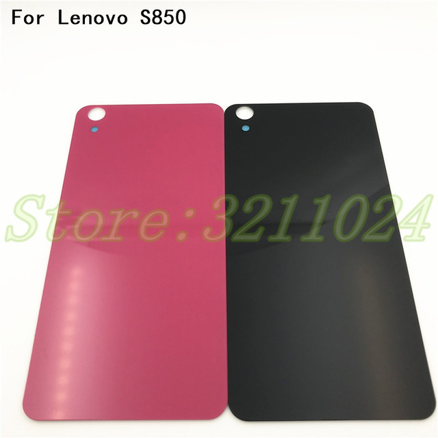 wholesale dealer 2a18d e1849 For Lenovo S850 S850T Case Replacement Glass Back Cover Battery Rear Door  Housing Funda STICKER Adhesive With Logo-in Mobile Phone Housings from ...