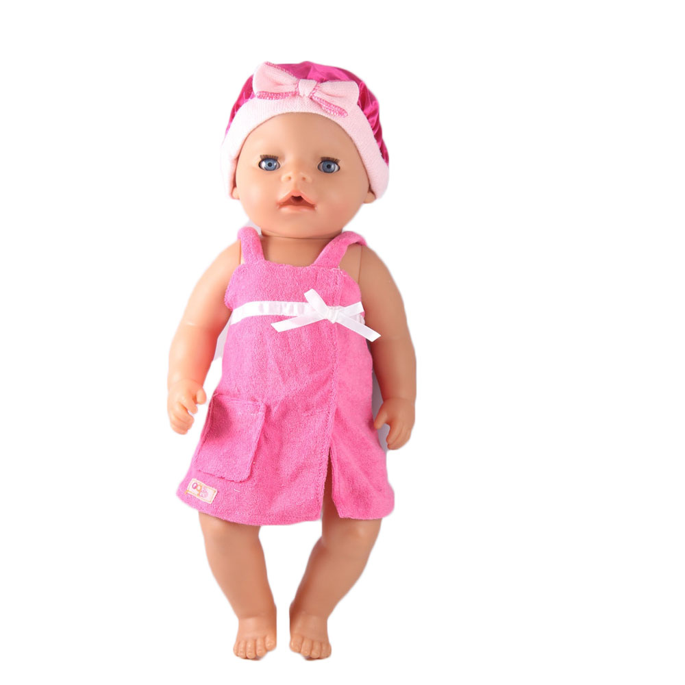 High Quality Bathroom Set Doll Clothes Wear Fit 43cm Baby Born Zapf Children Best Birthday Gift