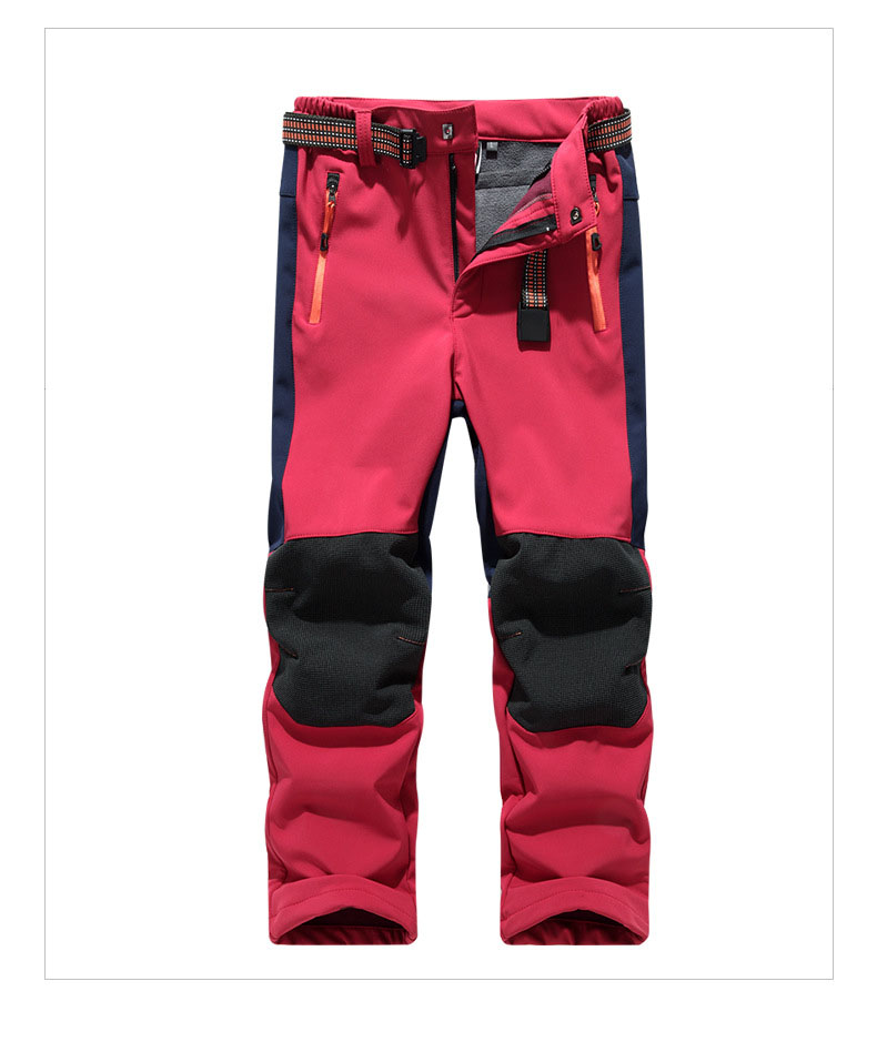 Kids Winter Pants Trousers Outdoor Waterproof Windproof Fleece Thermal Pants Sports Skating Skiing Riding Child Trousers S-2XL