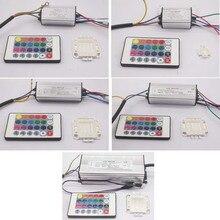 Водонепроницаемый светодиодный RGB-драйвер 10 Вт, 20 Вт, 30 Вт, 50 Вт, 100 Вт для RGB-светодиодов, чип COB SMD, светодиодные лампы с 24-кнопочным пультом дис...