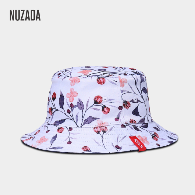 pretty nice 36011 4771e NUZADA Girl Ladies Women Bucket Hat Fisherman Hats Summer Autumn Spring  Printing Double Sided Can Be Worn Caps