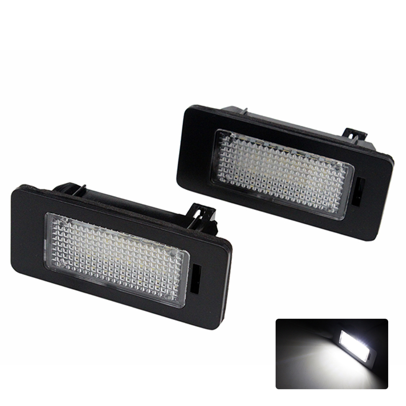2pcs/lot 24 SMD Car LED License Plate Light Lamp ERROR FREE Canbus Function White 6000k For BMW E39 E60 E61 E70 E82 E90 E92 2 x led number license plate lamps obc error free 24 led for bmw e39 e80 e82 e90 e91 e92 e60 e61 e70 e71
