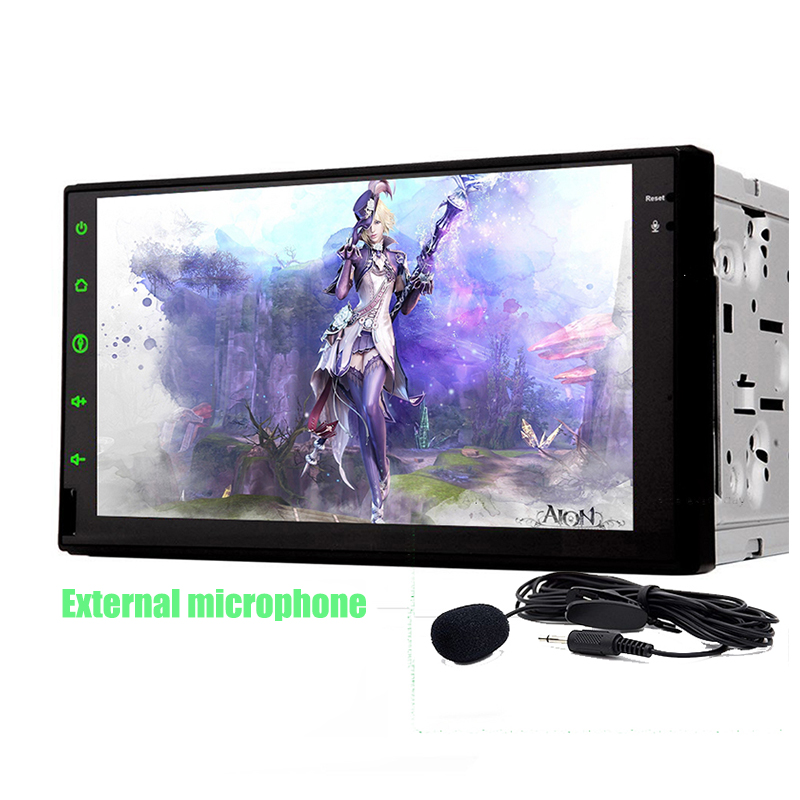 universal 2 Din dual Core Android 8.1 Audio 7Inch 1024*600 screen 1G CPU headunit Radio WIFI browser Free map image