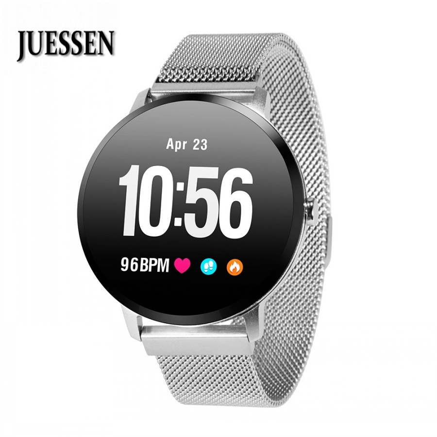 JUESSEN V11 Mens Smart band IP67 waterproof Tempered glass Activity Fitness tracker Heart rate monitor women