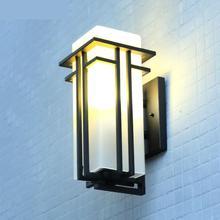 Modern Natural Chinese Outdoor Wall Led Light External Wall Lamp Iron porch wall fixtures Waterproof Courtyard Aisle Balcony